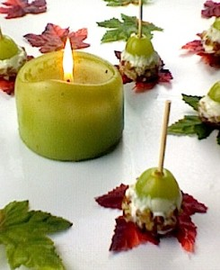 Grape Poppers with Candle